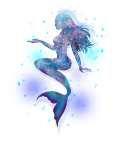 ftestickers fantasyart mermaid holographic colorful freetoedit