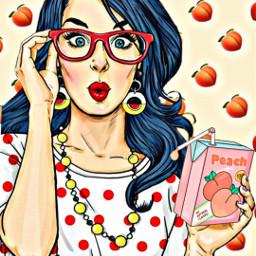 freetoedit peach woman pothography picsart stickersfreetoedit ircpeachesallaround