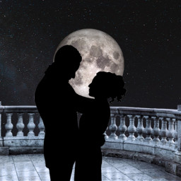 freetoedit couple lune amour ircthemoonabove