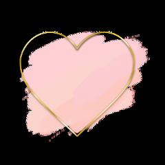 freetoedit pink watercolor heart