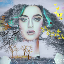 freetoedit female hair treebranch horizons myeditoffreetoedit