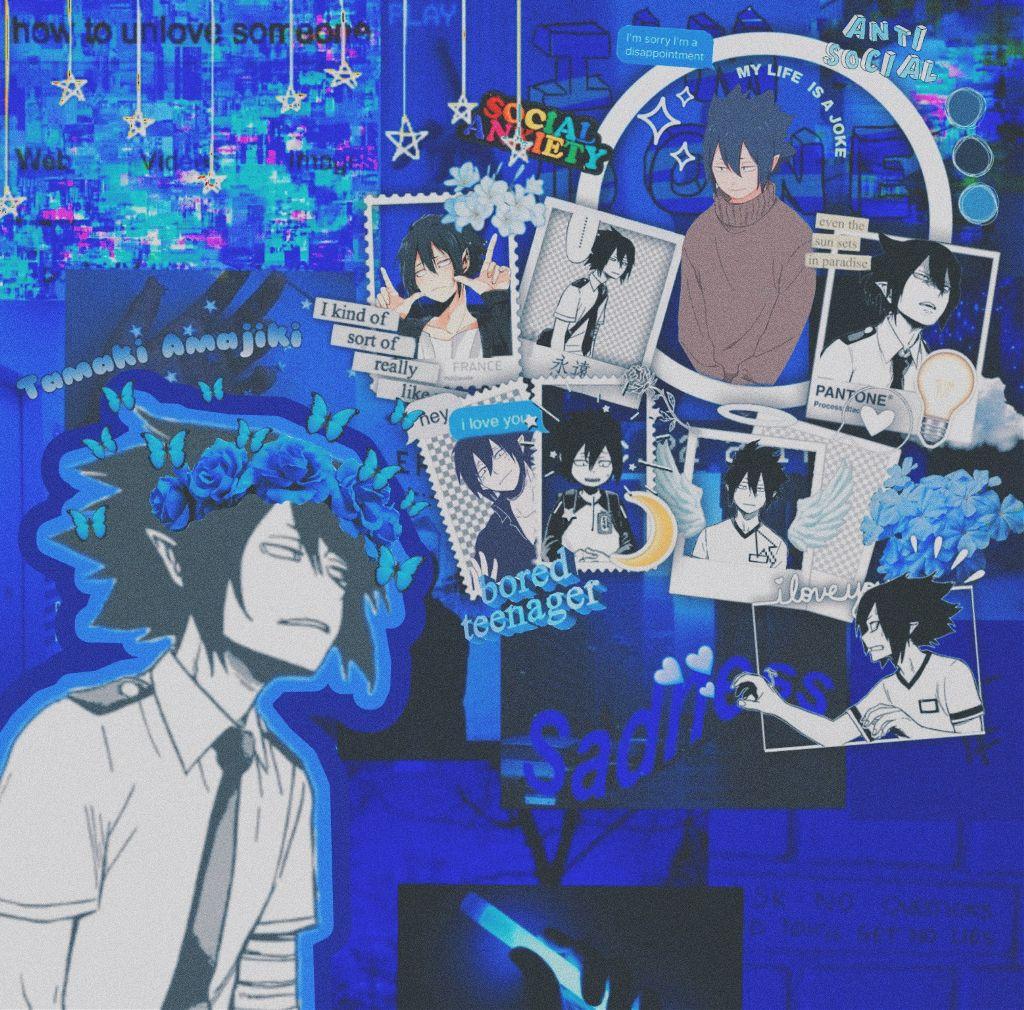 #freetoedit #tamakiamajiki #myheroacademia #blueaesthetic #bokunoheroacademia #thebigthree