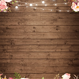 wooden background flowers stringlights card freetoedit