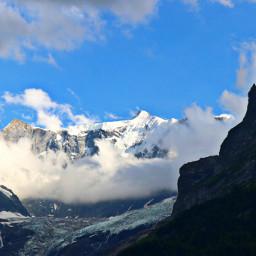 freetoedit mountains glacier ice blue