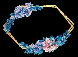 flower frame gold glitter geometric freetoedit