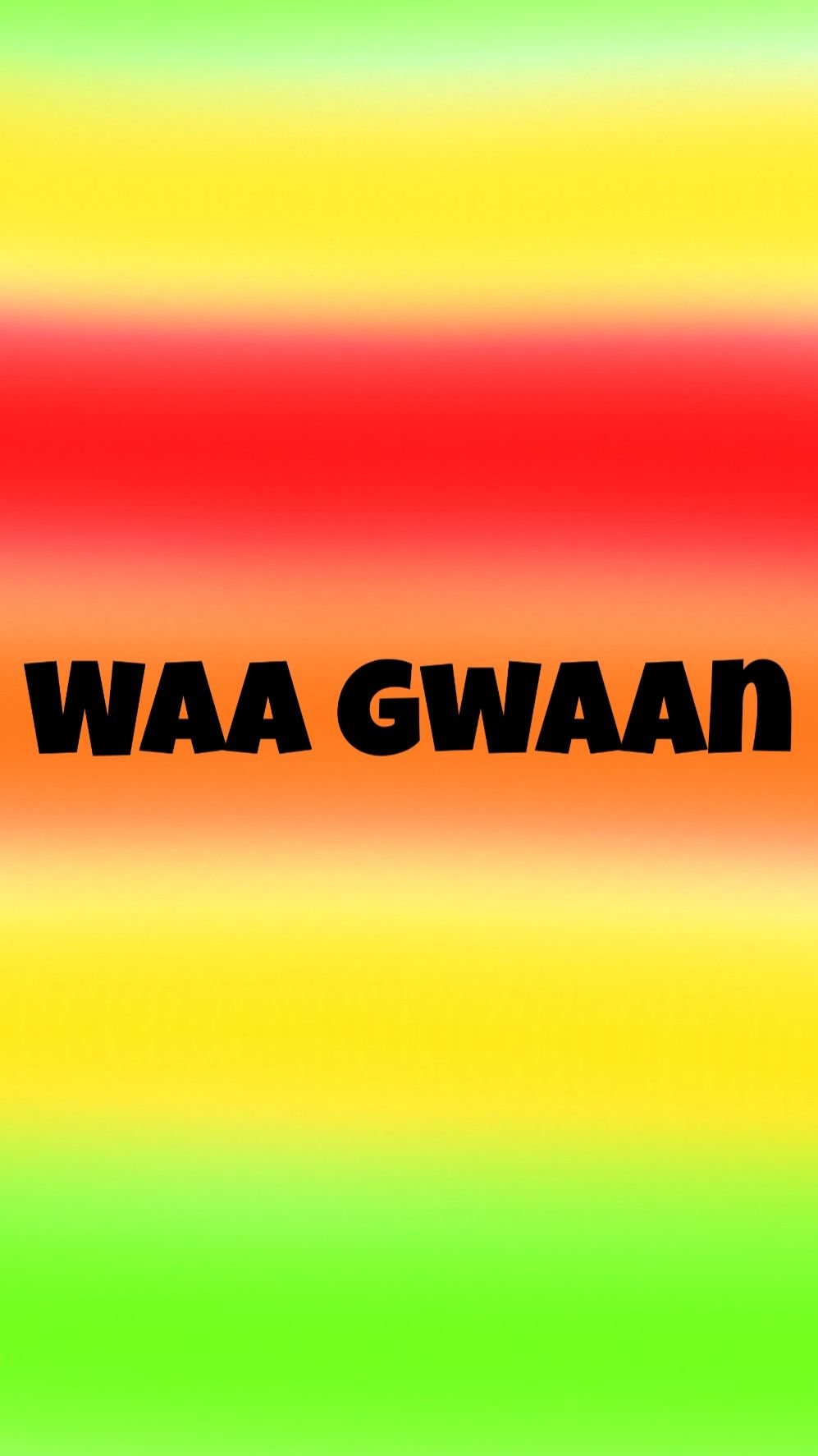 Waa gwaan is hi in Jamaican