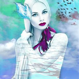 freetoedit female ethereal redlips cloudsandsky myeditoffreetoedit