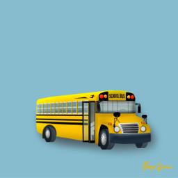 freetoedit mydrawing school schoolbus yellow