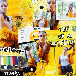 freetoedit arianagrande red orange yellow