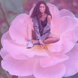 freetoedit flower sitting sitting_in_flower sittinggirl
