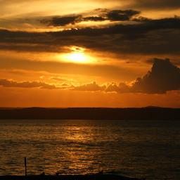 sunset sea nofilter
