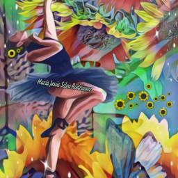 freetoedit by desaf bailarina mariposa srcsunflowerselfie