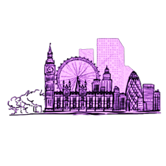 watercolor painting london landmarks freetoedit