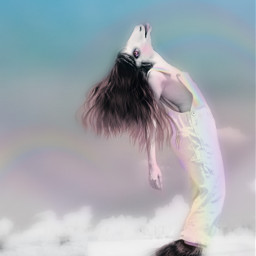 freetoedit saturdayvibes dance transformation rainbow