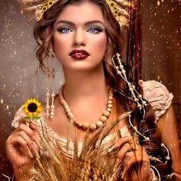freetoedit sunflowerselfie srcsunflowerselfie