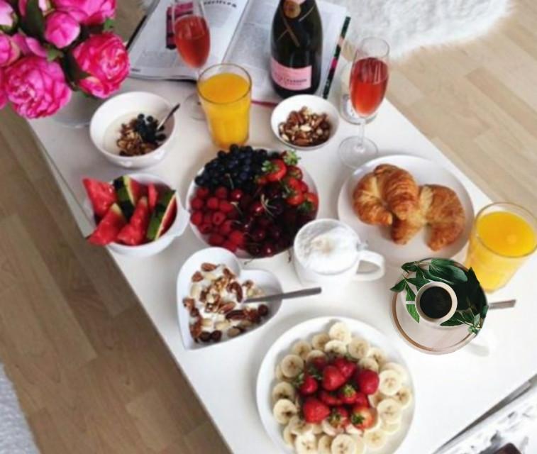 #freetoedit #café #petitdejeuner #breakfast