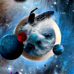 galaxy blue doubleexposure surf picsart irccoffee