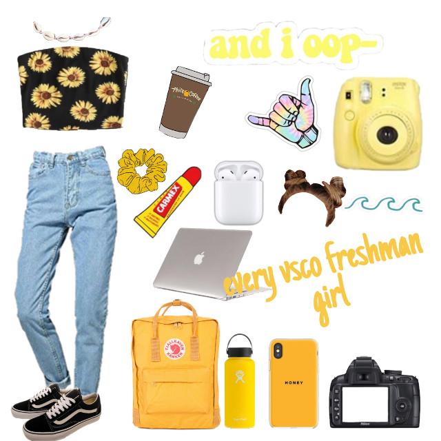 #vsco #vscogirl #yellow VSCO FRESHMAN GIRL IN 2019