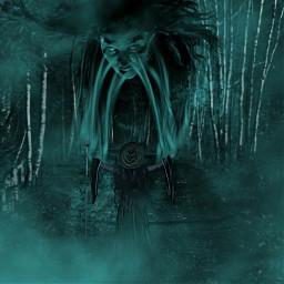 freetoedit darkart creepy witchy darkwoods