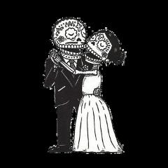dayofthedead sugarskulls couple dancing freetoedit