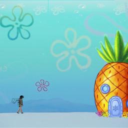 freetoedit bobesponja spongebob spongebobsquarepants fondodebikini ircmanandnature