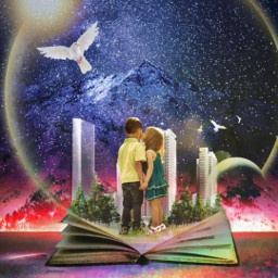 freetoedit children love fantasy galaxy