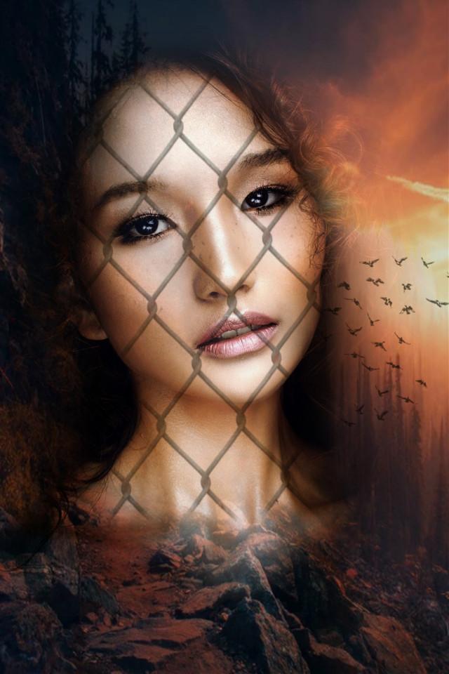 #freetoedit #doubleexposure #picsartedit #picsarteffects #woman