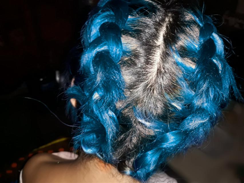 #freetoedit #bluehair