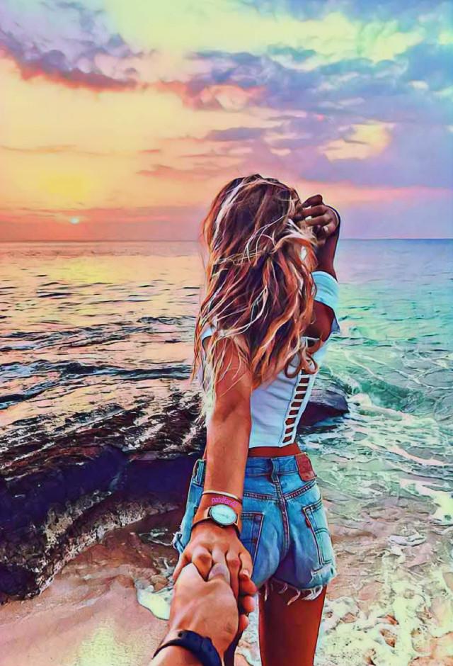 #freetoedit #lastsunsetofsummer #sunset #couple #pictureoftheday #whenthedaymetthenight #beautifull #colors #happiness #love @patdfan47