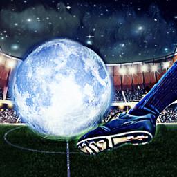 freetoedit srcfullmoon fullmoon soccer soccerfield