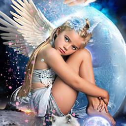 freetoedit moon moongirl srcfullmoon fullmoon