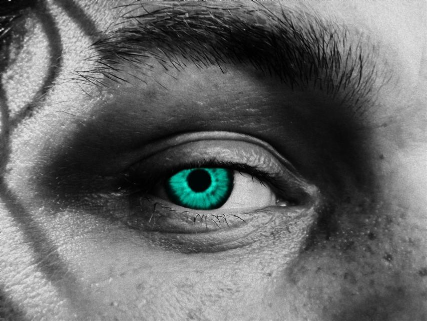 #freetoedit #eye #blue #blackandwhite