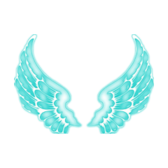 freetoedit turquoise angelwings