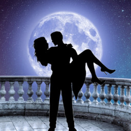 freetoedit couple lune amour srcfullmoon