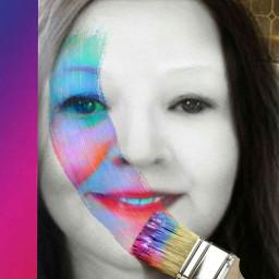 paintingphotography paintbrush selfie freetoedit