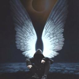 freetoedit luna moon eclipse wings