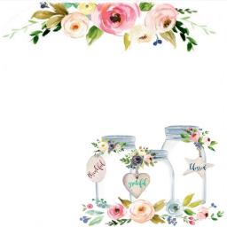 card watercolor flowers floral decorative freetoedit