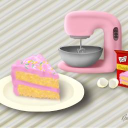 retro food baking cake pink dcbakeacake freetoedit