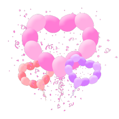 ftestickers confetti balloons hearts colorful freetoedit