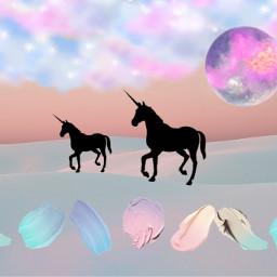 freetoedit unicorn cutebackground fantasy pastel ircpastelremix