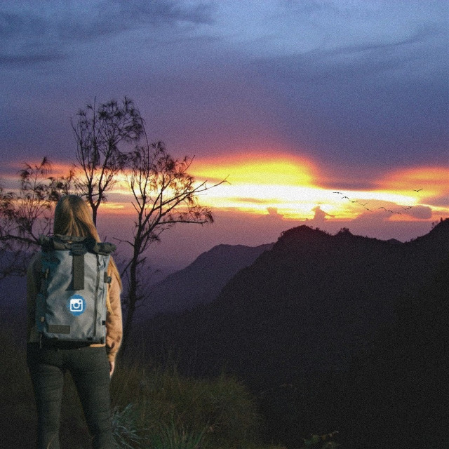 Hello Awesome Shoot 👋📸  #meidydoang #freetoedit #mountain #sunset #indonesia #
