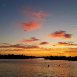 snapshot takenbyme beautiful sunset moon