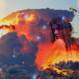 freetoedit sun red surreal sky
