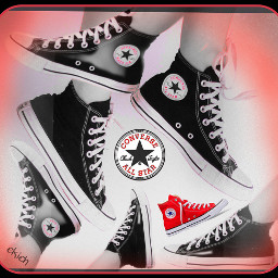 freetoedit red chucks converse shoes