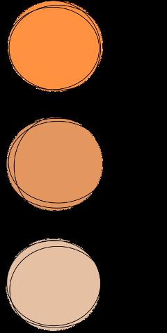 orange pallet pantone circle freetoedit scorange