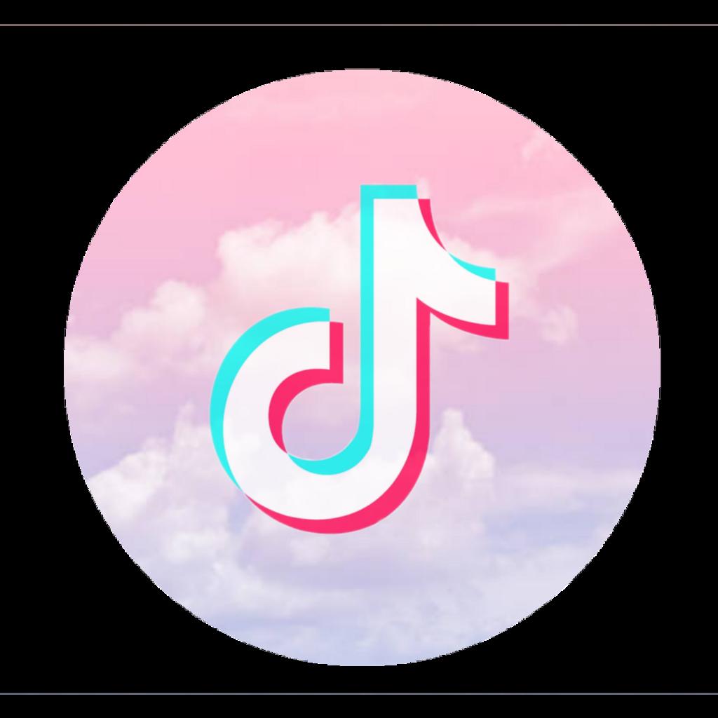 tiktok logo wolken clouds rosa pink blue blau weiß weiß...