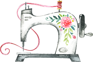 watercolor aesthetic machine sewing freetoedit scsewingmachine