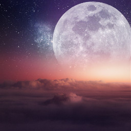 freetoedit background clouds cloud sky star stars moon smoke fog visual surreal remix madebypicsart creative