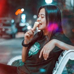 freetoedit streetshot icecream nightphotography bokeh