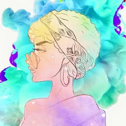 freetoedit nuage nuages arcoiris🌈 multicolor ircgetcreative